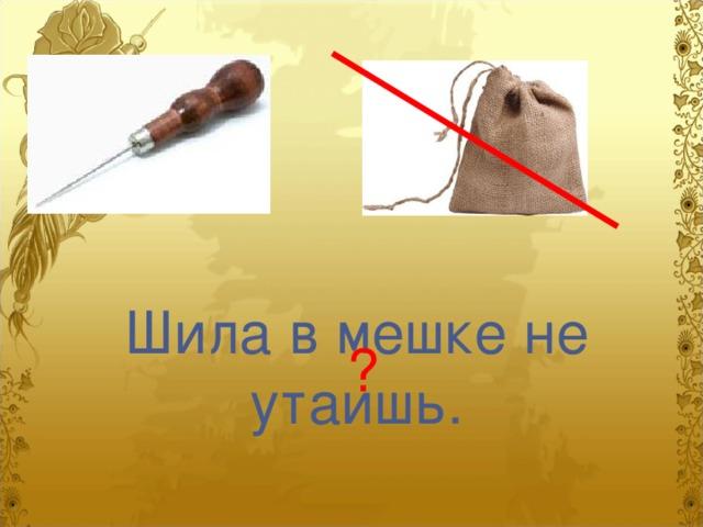 фотика картинка на пословицу шила в мешке не утаишь эффектом металлик
