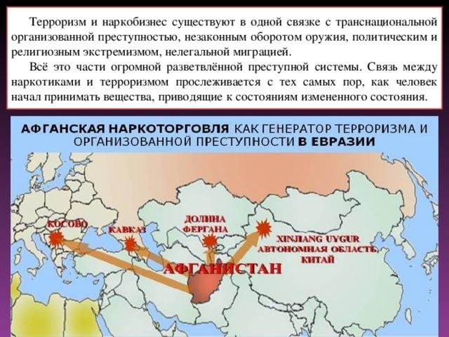 Наркобизнес как разновидность международного терроризма реферат 3354