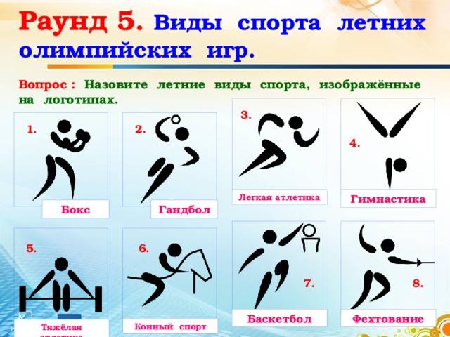 виды олимпийских игр в картинках ведитесь