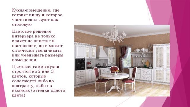 Доклад описание интерьера моей кухни 7802