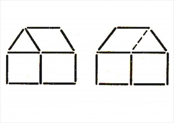Картинка домик из палочек