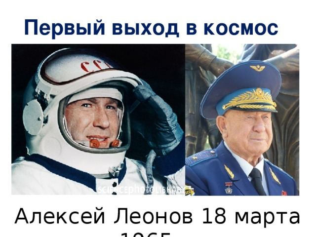 Первый выход в космос Алексей Леонов 18 марта 1965 г.