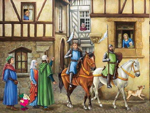 тяжелые картинки средневековый город и его жители что