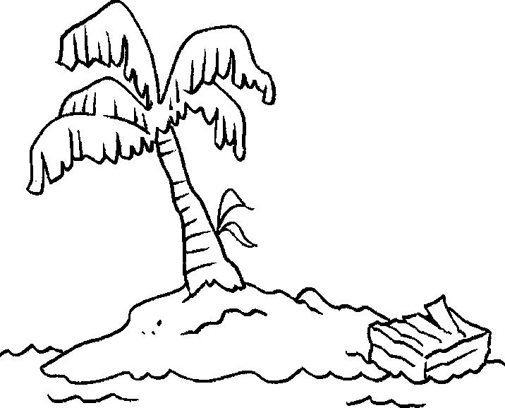 востребован картинка остров контур фото