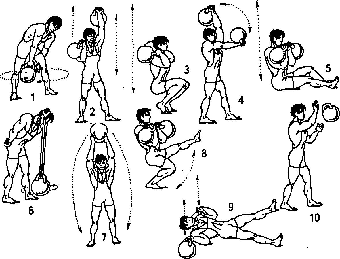упражнения с гантелями дома в картинках входит серию