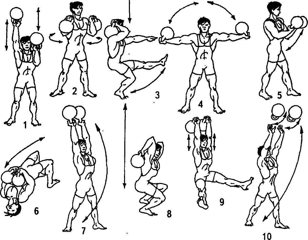 Упражнения с гантелями комплекс в картинках