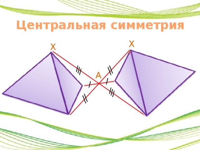 Центральная симметрия картинки геометрия творческая работа