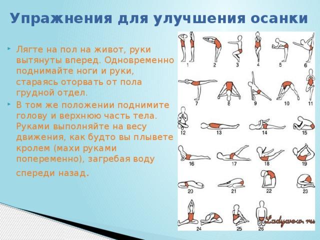 Упражнение для осанки с картинками