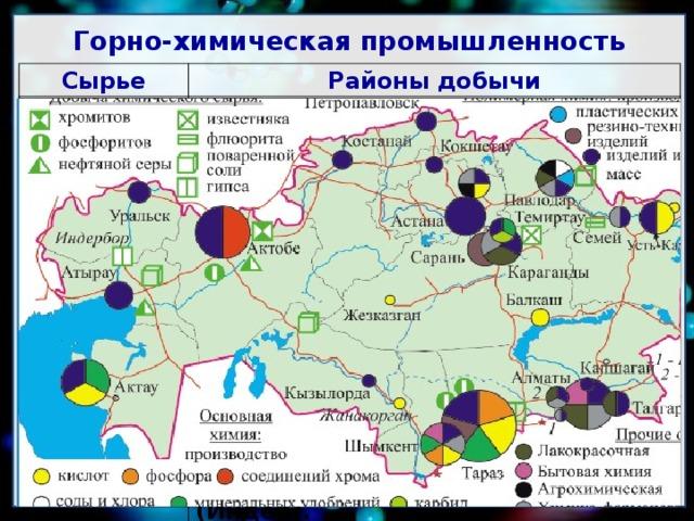 районы базы центры химической промышленности