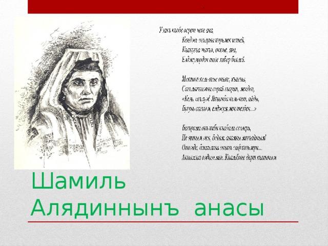 раз стихи для шамиля заслужено любим