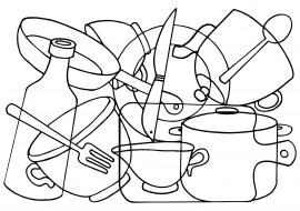 картинки наложения посуда производится