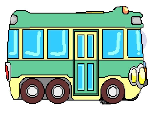 Анимация автобус едет, солнышко детском саду