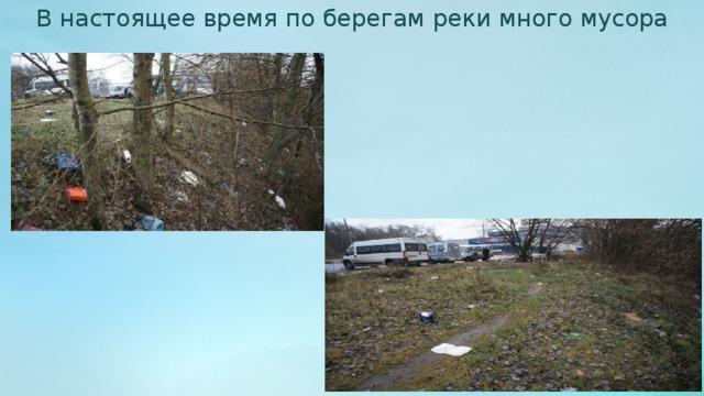 В настоящее время по берегам реки много мусора