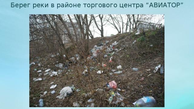 """Берег реки в районе торгового центра """"АВИАТОР"""""""