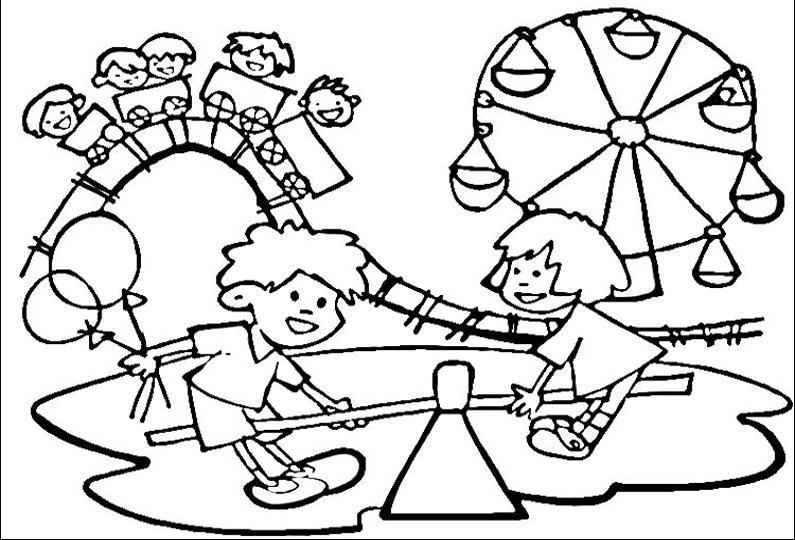 всегда картинка с детьми в парке печать размещенная