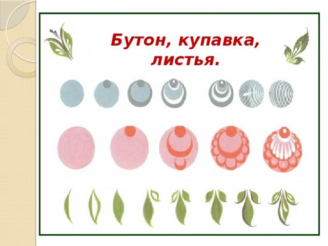 Картинка городецкая роспись бутон