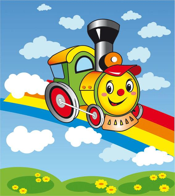 Поезд картинка детский