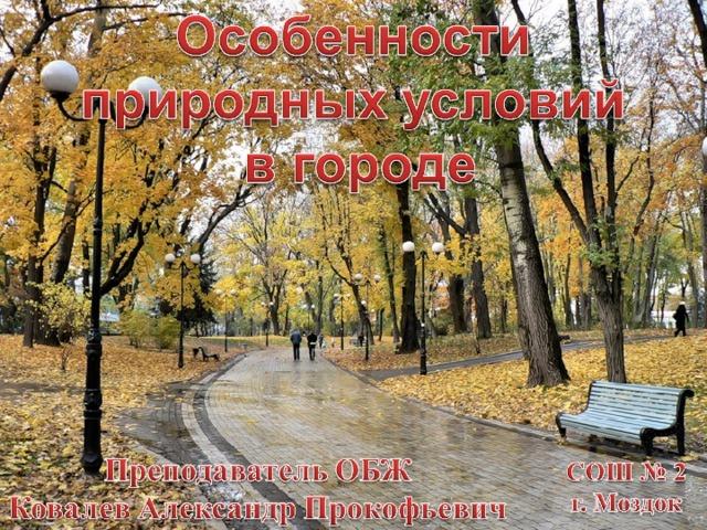 Особенности природных условий в городе реферат 7887