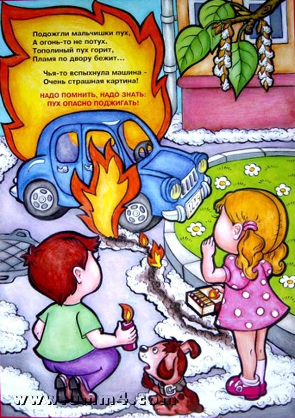 Пожарная безопасность в картинках, днем рождения