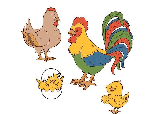 Картинка петушок с семьей для детей