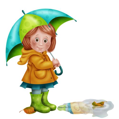 Картинка с девочкой с зонтиком